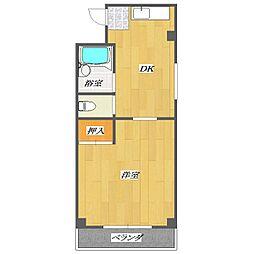 No.7 Nakazato building[203号室]の間取り