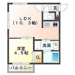 仮)厚別中央1−3MS[4階]の間取り