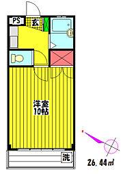 プレステージ関根III[205号室]の間取り