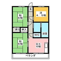 山源ビル[2階]の間取り