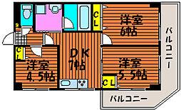 セントエルモ門田文化町[5階]の間取り