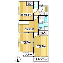 新田ツインズ[2階]の間取り
