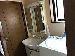 三面鏡・シャワーつきの洗面台