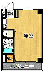 ベルトピア杭瀬[6階]の間取り