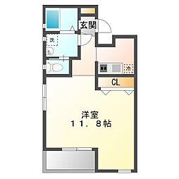 兵庫県神戸市垂水区王居殿1丁目の賃貸アパートの間取り