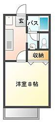 サンロイヤル加茂[2階]の間取り