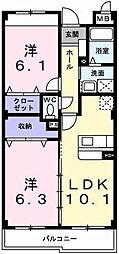 フルハウスⅢ[1階]の間取り