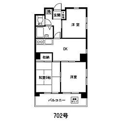 海老沢第一ビル[702号室]の間取り