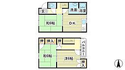 金川マンション5号6号[5号室]の間取り