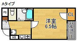 パークメゾン住吉[4階]の間取り