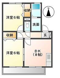 東京都三鷹市牟礼4丁目の賃貸アパートの間取り