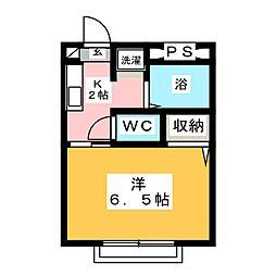 シタラハイツII[2階]の間取り