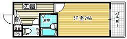 アバンダンス天神橋[5階]の間取り