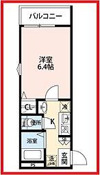 東京都荒川区東日暮里2丁目の賃貸アパートの間取り