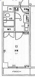 グローリア初穂田端[5階]の間取り