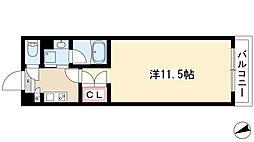 シティライフ本山東 5階1Kの間取り