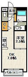 グリーンメゾン山本A棟[1階]の間取り