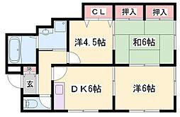 Tハイツ[2階]の間取り