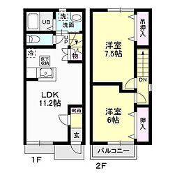Habitation[101号室]の間取り