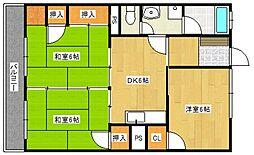古賀第1ビル[3階]の間取り