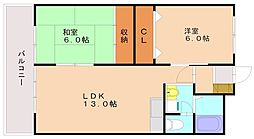 第16大橋IR BLD[2階]の間取り