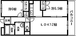 サニーグレイス[1階]の間取り