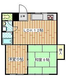 神奈川県横須賀市馬堀町1丁目の賃貸マンションの間取り