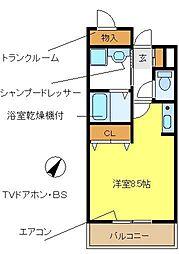 ドミールアプリコット[1階]の間取り
