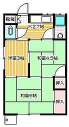 渡辺荘[11号室]の間取り