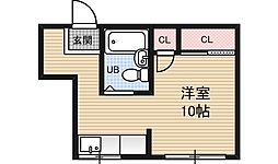 ツインクル堂島[2階]の間取り