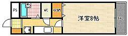 セントラル槙島[408号室]の間取り