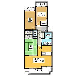 不二マンションB棟[2階]の間取り