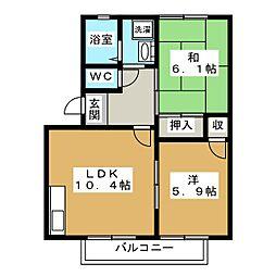 ロジュマン・ド・K[2階]の間取り