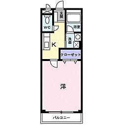 ラッフィナート・カーサ[2階]の間取り
