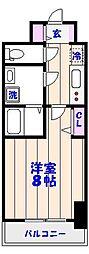 ドゥーエ西船橋[502号室]の間取り
