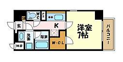 名古屋市営名城線 上前津駅 徒歩10分の賃貸マンション 2階1Kの間取り