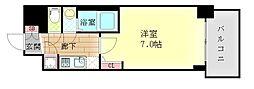 アスヴェル大阪サウスキャナル 4階1Kの間取り