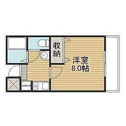 CUBIC119[2階]の間取り