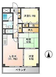 メゾンポレール[3階]の間取り
