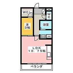 WAN'S PARK SAKURA B[2階]の間取り