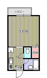福田ハイツ[102号室]の間取り