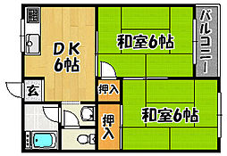大阪府大阪市東淀川区豊新1丁目の賃貸マンションの間取り