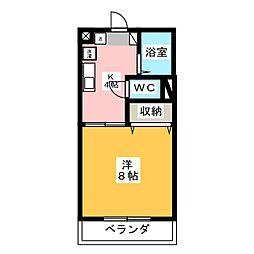 エイカハイム[4階]の間取り