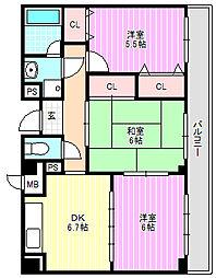 フレアコートコスモ[3階]の間取り