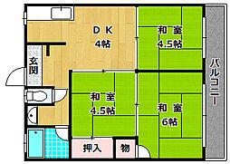 フルールナガムラ[2階]の間取り