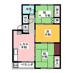 中ノ江ビル[4階]の間取り