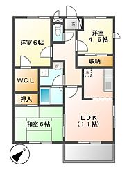 サーディアム本山[3階]の間取り