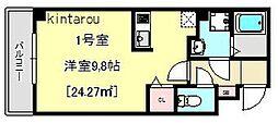 千葉県千葉市中央区本町2丁目の賃貸マンションの間取り