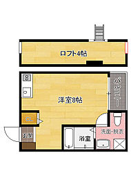 福岡県福岡市東区社領1丁目の賃貸アパートの間取り