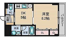 ブルーム江坂[5階]の間取り